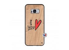 Coque Samsung Galaxy S8 I Love You Bois Bamboo
