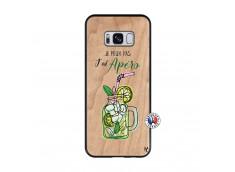 Coque Samsung Galaxy S8 Je peux pas J'ai Apéro Bois Bamboo