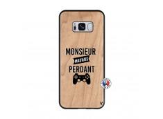 Coque Samsung Galaxy S8 Monsieur Mauvais Perdant Bois Bamboo