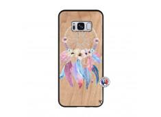 Coque Samsung Galaxy S8 Multicolor Watercolor Floral Dreamcatcher Bois Bamboo