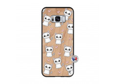 Coque Samsung Galaxy S8 Petits Chats Bois Bamboo
