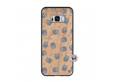 Coque Samsung Galaxy S8 Petits Hippos Bois Bamboo
