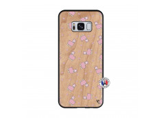 Coque Samsung Galaxy S8 Petits Moutons Bois Bamboo