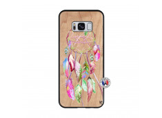Coque Samsung Galaxy S8 Pink Painted Dreamcatcher Bois Bamboo