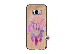 Coque Samsung Galaxy S8 Purple Dreamcatcher Bois Bamboo