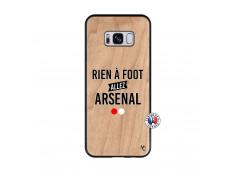 Coque Samsung Galaxy S8 Rien A Foot Allez Arsenal Bois Bamboo