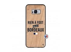 Coque Samsung Galaxy S8 Rien A Foot Allez Bordeaux Bois Bamboo