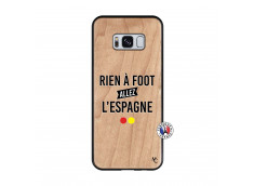 Coque Samsung Galaxy S8 Rien A Foot Allez L'Espagne Bois Bamboo