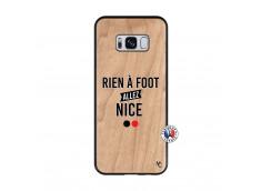 Coque Samsung Galaxy S8 Rien A Foot Allez Nice Bois Bamboo