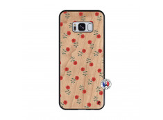 Coque Samsung Galaxy S8 Rose Pattern Bois Bamboo