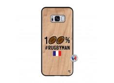 Coque Samsung Galaxy S8 100% Rugbyman Bois Bamboo