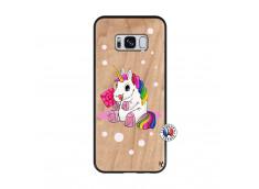 Coque Samsung Galaxy S8 Sweet Baby Licorne Bois Bamboo