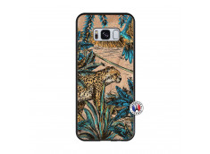 Coque Samsung Galaxy S8 Leopard Jungle Bois Bamboo