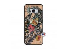 Coque Samsung Galaxy S8 Leopard Tree Bois Bamboo