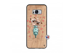 Coque Samsung Galaxy S8 Puppies Love Bois Bamboo