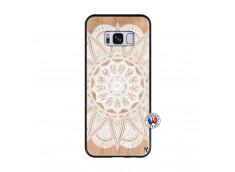 Coque Samsung Galaxy S8 White Mandala Bois Bamboo