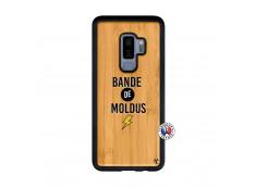 Coque Samsung Galaxy S9 Plus Bandes De Moldus Bois Bamboo