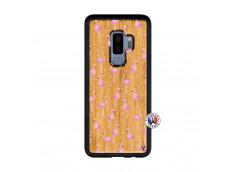 Coque Bois Samsung Galaxy S9 Plus Flamingo