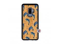 Coque Bois Samsung Galaxy S9 Plus Dauphins