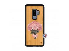 Coque Samsung Galaxy S9 Plus Bouquet de Roses Bois Bamboo