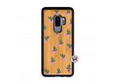 Coque Samsung Galaxy S9 Plus Cactus Pattern Bois Bamboo