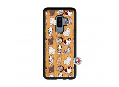 Coque Samsung Galaxy S9 Plus Cat Pattern Bois Bamboo