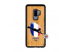 Coque Samsung Galaxy S9 Plus Coupe du Monde de Rugby-France Bois Bamboo