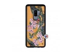 Coque Samsung Galaxy S9 Plus Flower Birds Bois Bamboo