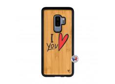 Coque Samsung Galaxy S9 Plus I Love You Bois Bamboo