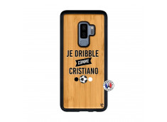 Coque Samsung Galaxy S9 Plus Je Dribble Comme Cristiano Bois Bamboo