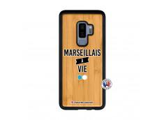 Coque Samsung Galaxy S9 Plus Marseillais à Vie Bois Bamboo