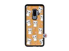 Coque Samsung Galaxy S9 Plus Petits Chats Bois Bamboo