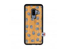 Coque Samsung Galaxy S9 Plus Petits Hippos Bois Bamboo