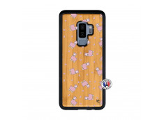 Coque Samsung Galaxy S9 Plus Petits Moutons Bois Bamboo