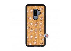 Coque Samsung Galaxy S9 Plus Petits Renards Bois Bamboo