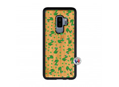 Coque Samsung Galaxy S9 Plus Petits Serpents Bois Bamboo