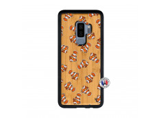 Coque Samsung Galaxy S9 Plus Petits Poissons Clown Bois Bamboo