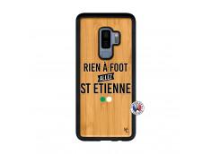 Coque Samsung Galaxy S9 Plus Rien A Foot Allez St Etienne Bois Bamboo