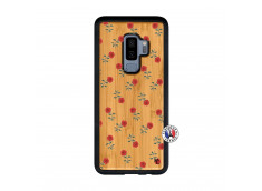Coque Samsung Galaxy S9 Plus Rose Pattern Bois Bamboo