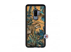 Coque Samsung Galaxy S9 Plus Leopard Jungle Bois Bamboo