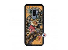 Coque Samsung Galaxy S9 Plus Leopard Tree Bois Bamboo