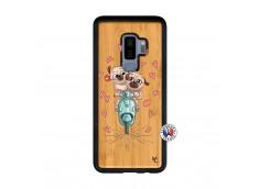 Coque Samsung Galaxy S9 Plus Puppies Love Bois Bamboo