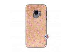 Coque Bois Samsung Galaxy S9 Flamingo