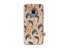 Coque Bois Samsung Galaxy S9 Dauphins