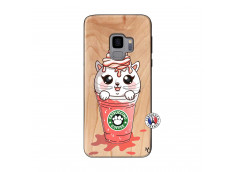 Coque Bois Samsung Galaxy S9 Catpucino Ice Cream