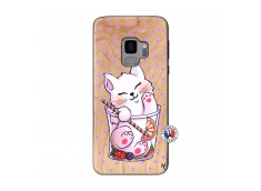 Coque Bois Samsung Galaxy S9 Smoothie Cat