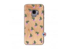 Coque Samsung Galaxy S9 Cactus Pattern Bois Bamboo