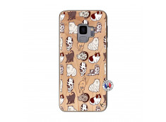 Coque Samsung Galaxy S9 Cat Pattern Bois Bamboo