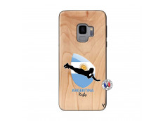 Coque Samsung Galaxy S9 Coupe du Monde Rugby-Argentine Bois Bamboo