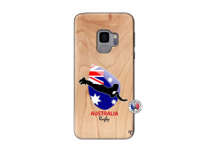 Coque Samsung Galaxy S9 Coupe du Monde Rugby-Australia Bois Bamboo